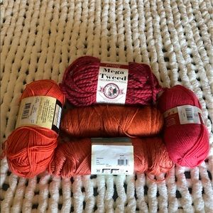 Other - Lot of Orange, Red, and Coral Yarn